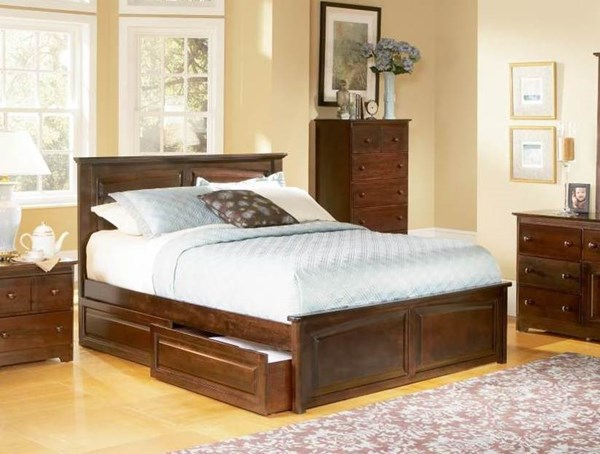 Monterey Antique Walnut Solid Wood Twin Bed w/Raised Panel Footboard AP8624134