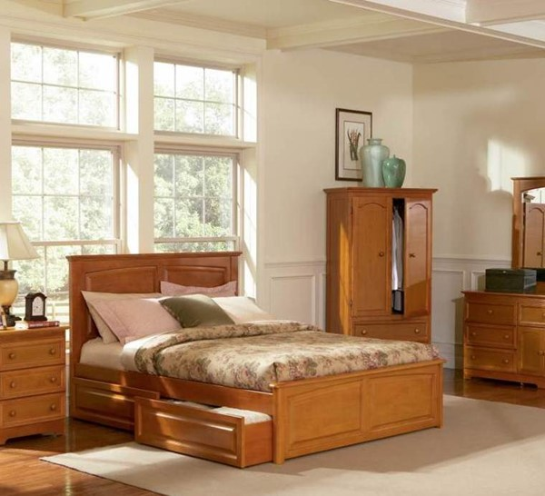 Monterey Caramel Latte Solid Wood Twin Bed w/Raised Panel Footboard AP8624137
