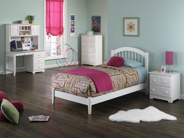 Windsor Cottage White Solid Wood Open Foot Rail Beds AP94210-W