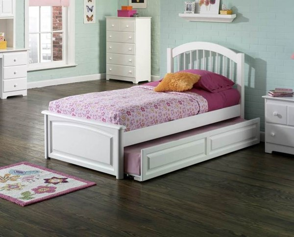 Windsor Solid Wood Raised Panel Foot Board Trundle Beds AP94240