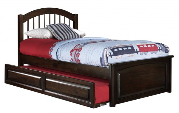 Windsor Cottage Wood Walnut Beds w/Raised Panel Foot Board & Trundle AP94240-AW