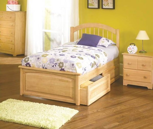Windsor Cottage Natural Maple Wood Queen Bed w/Raised Panel Footboard AP9444135