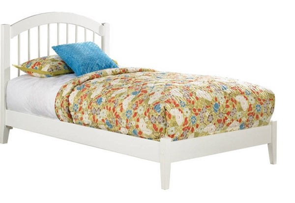 Windsor White Wood Full Platform Open Foot Bed AP9431002