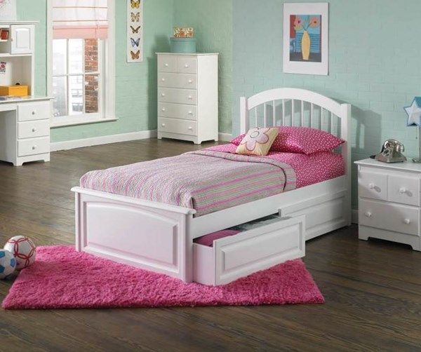 Windsor White Solid Wood Queen Bed w/Raised Panel Footboard AP9444132