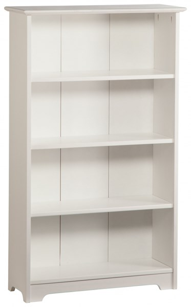 Windsor Classic White Solid Wood 4 Shelves Bookcase C-693-W55