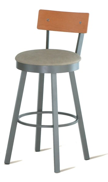 Lauren Swivel 30 Inch Stool (Upholstered Seat & Birch Veneer Backrest) AMC-40293-30-MFW