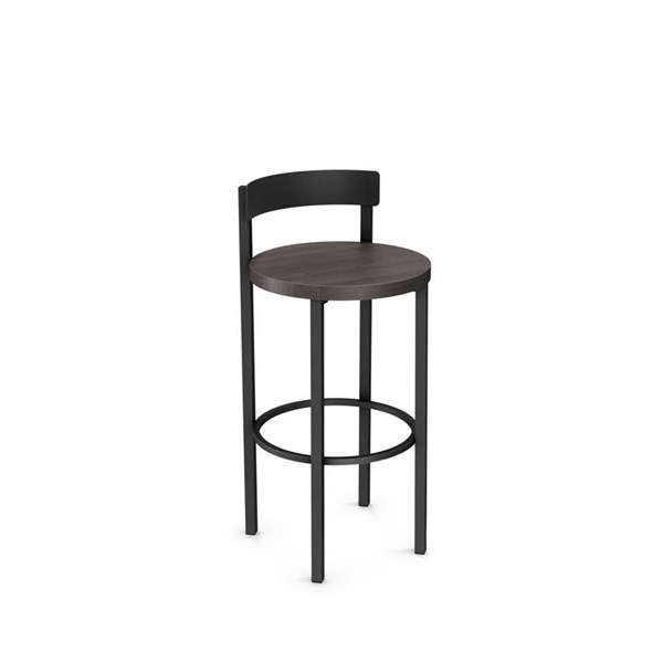 Zoe Non Swivel 30 Inch Stool (Distressed Solid Wood Seat) AMC-40468-30-MW