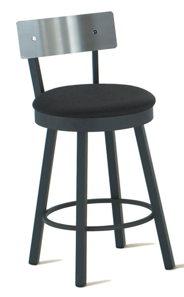 Lauren Swivel Stools (Upholstered Seat & Stainless Steel Back) AMC-40493-BS-VAR