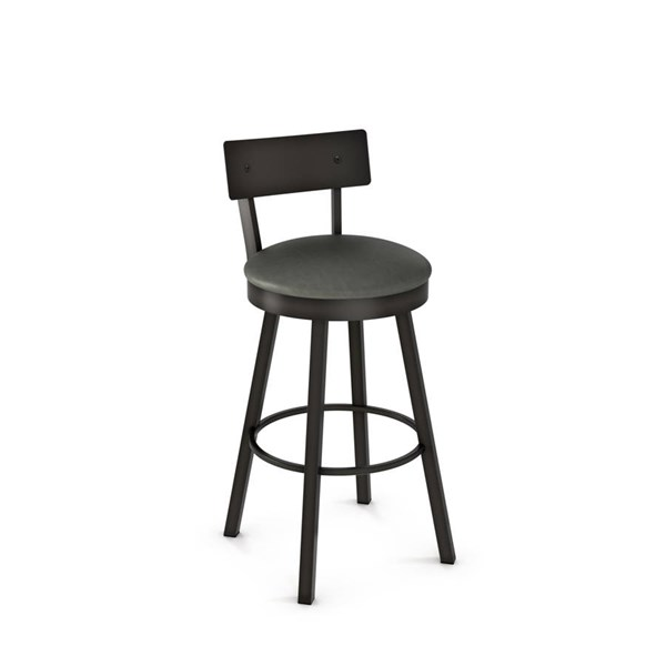 Lauren Swivel 30 Inch Stool (Upholstered Seat And Metal Backrest) AMC-40593-30-MF