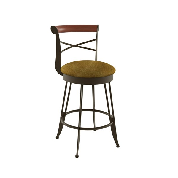 Historian Swivel 26 Inch Stool (Solid Wood Accent) AMC-41402-26-MFW