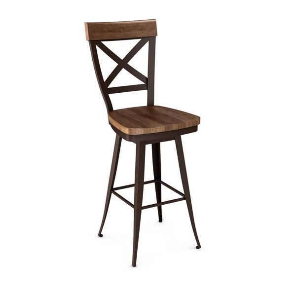Kyle Swivel 26 Inch Stool (Distressed Solid Wood Seat And Accent) AMC-41414-26-MW
