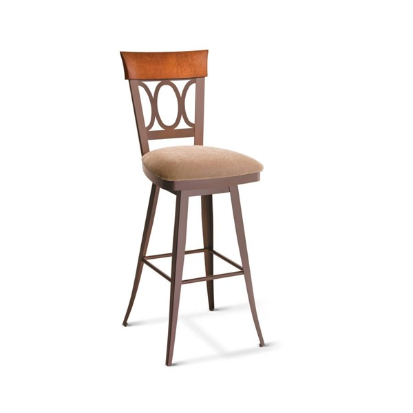 Cindy Swivel Stools (Solid Wood Accent) AMC-41417-BS-VAR