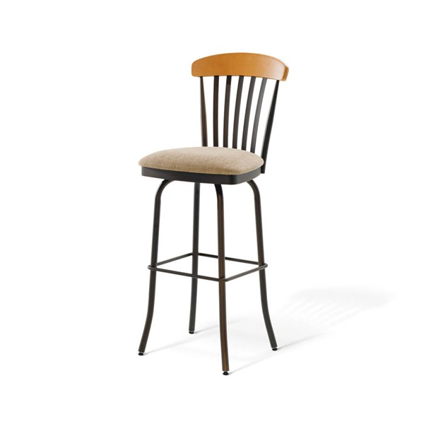 Tammy Swivel 34 Inch Stool (Solid Wood Accent) AMC-41418-34-MFW