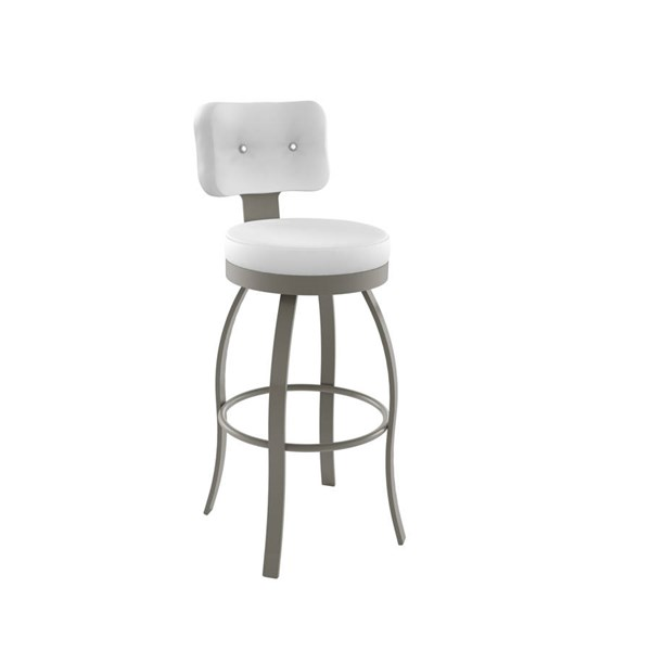 Swan Swivel 30 Inch Stool Made With Swarovski Elements AMC-41496-30S-MF