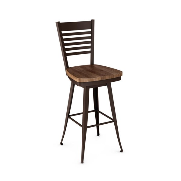 Edwin Swivel Stools (Distressed Solid Wood Seat) AMC-41498-BS-VAR1