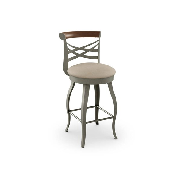 Whisky Swivel 26 Inch Stool (Solid Wood Accent) AMC-41512-26-MFW