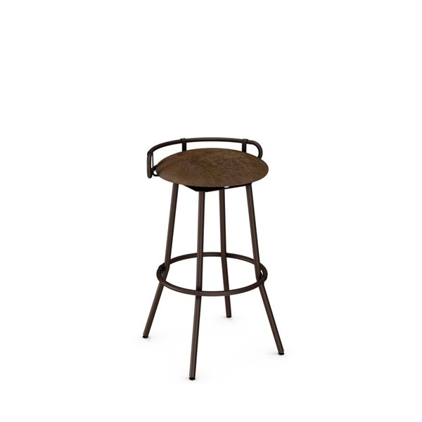 Bluffton Swivel 30 Inch Stool (Upholstered Seat And Metal Backrest) AMC-41565-30-MF