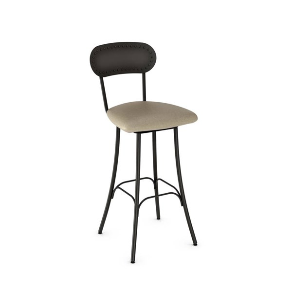 Bean Swivel 30 Inch Stool (Upholstered Seat And Metal Backrest) AMC-41568-30-MF