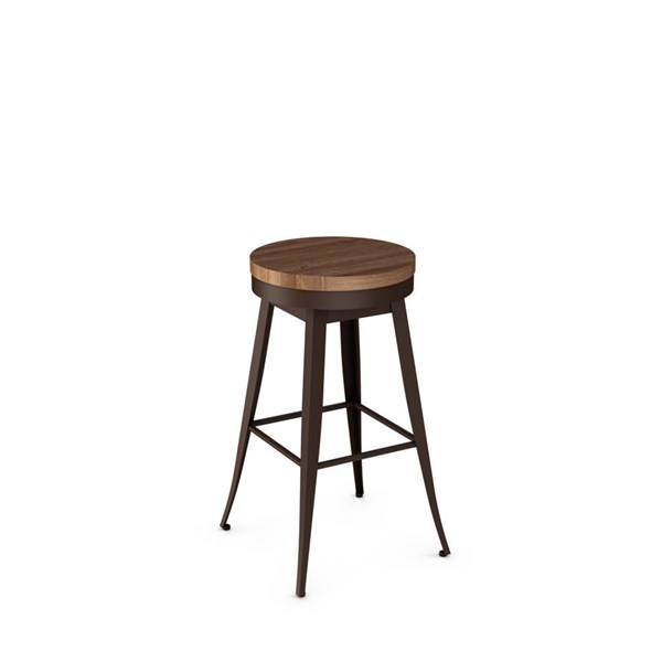 Grace Swivel Stools (Distressed Solid Wood Seat) AMC-42414-BS-VAR1