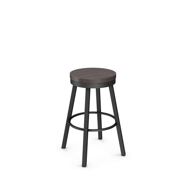 Connor Swivel 26 Inch Stool (Distressed Solid Wood Seat) AMC-42493-26-MW