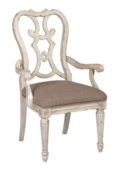 2 American Drew Southbury Fossil Parchment Cortona Arm Dining Chairs AMDRW-513-637