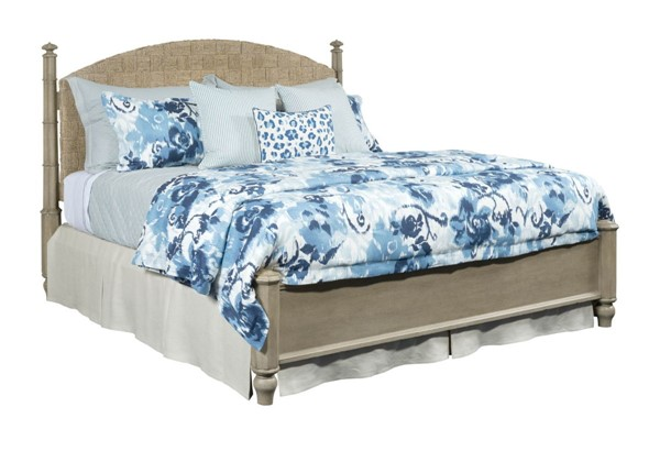 American Drew Litchfield Sun Washed Driftwood Currituck Low Post Beds AMDRW-750-32-BEDS