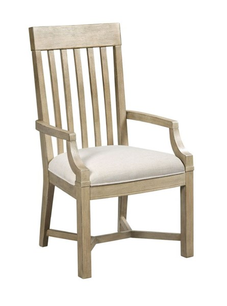 2 American Drew Litchfield Sun Washed Driftwood James Arm Chairs AMDRW-750-637D