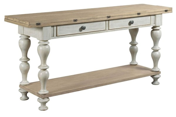 American Drew Litchfield Sun Washed Driftwood Lakeside Flip Top Table AMDRW-750-926
