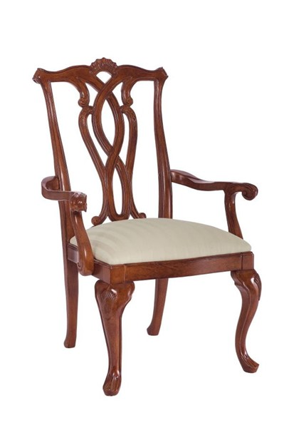 2 American Drew Cherry Grove Pierced Back Arm Chairs AMDRW-792-655
