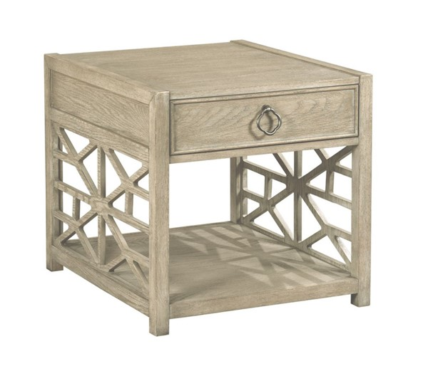 American Drew Vista Oyster Biscayne Drawer End Table AMDRW-803-915