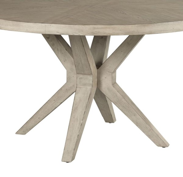 American Drew West Fork Aged Taupe Hardy Round Dining Table Base AMDRW-924-B01