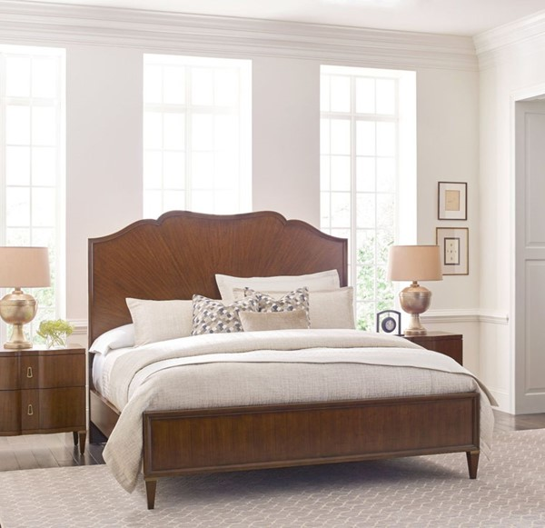 American Drew Vantage Warm Brown 2pc Bedroom Set with Cal King Panel Bed AMDRW-929-BR-S6