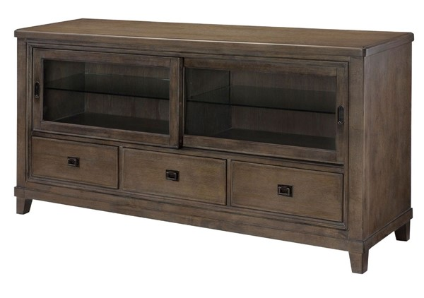 American Drew Park Studio Weathered Taupe Gray Wash 66 Inch Entertainment Console AMDRW-488-585
