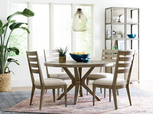 American Drew West Fork Aged Taupe 5pc Dining Room Set AMDRW-924-DR-S2