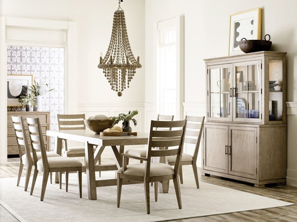 American Drew West Fork Aged Taupe 7pc Dining Room Set AMDRW-924-DR-S3