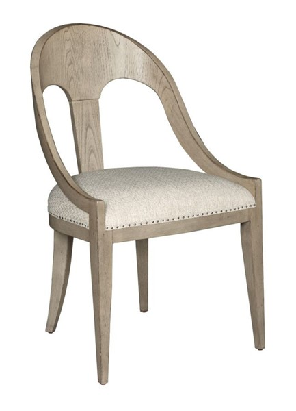 2 American Drew West Fork Aged Taupe Newport Host Chairs AMDRW-924-622