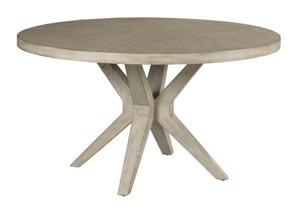 American Drew West Fork Aged Taupe Hardy Round Dining Table AMDRW-924-701R