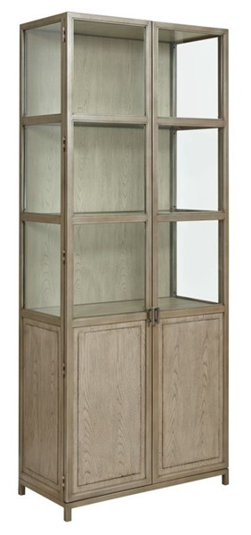 American Drew West Fork Aged Taupe Blackwell Display Cabinet AMDRW-924-854