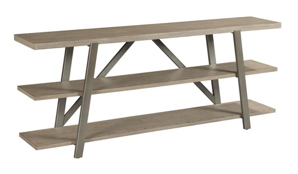 American Drew West Fork Aged Taupe Bailey Console Table AMDRW-924-925