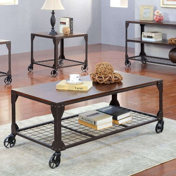 Furniture of America Edgeley I Tray Top Coffee Table FOA-CM4111C