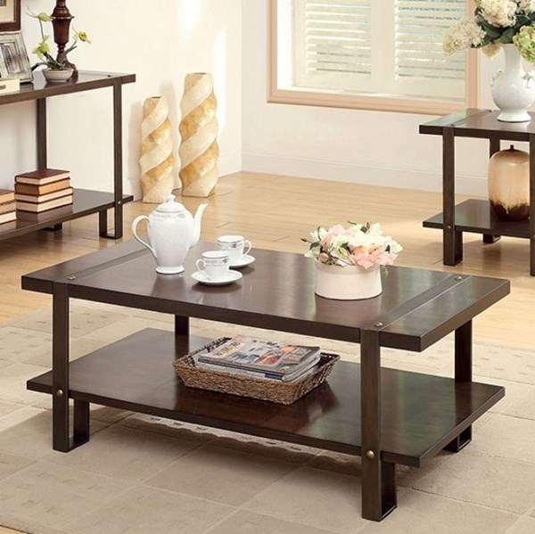 Furniture of America Arbor Coffee Table FOA-CM4638C