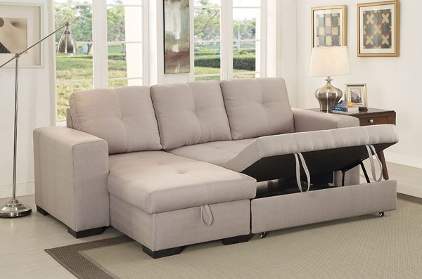 Furniture of America Denton Ivory Sectional FOA-CM6149IV-SET