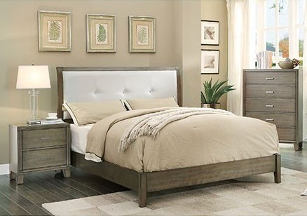 Furniture of America Enrico I 2pc Bedroom Set with Full Bed FOA-CM7068GY-F-BR-S4
