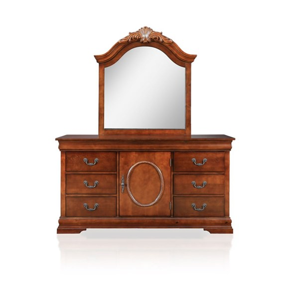 Furniture of America Velda II Dresser and Mirror FOA-CM7952-DRMR