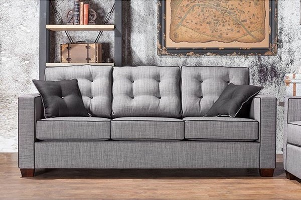 Furniture of America Ravel I Gray Sofa FOA-SM8801-SF