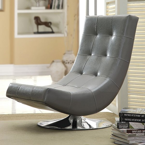 Furniture of America Trinidad Gray Swivel Chair FOA-CM-AC6912GY