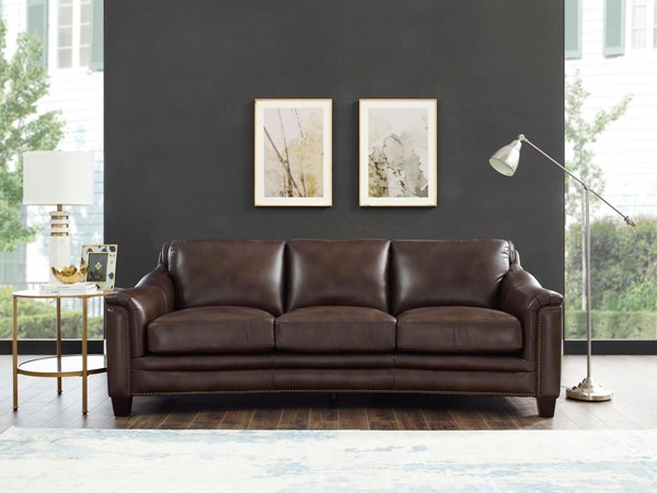 Hydeline San Rafael Chestnut Brown Sofa AMX-San-Rafael-SO-BROWN