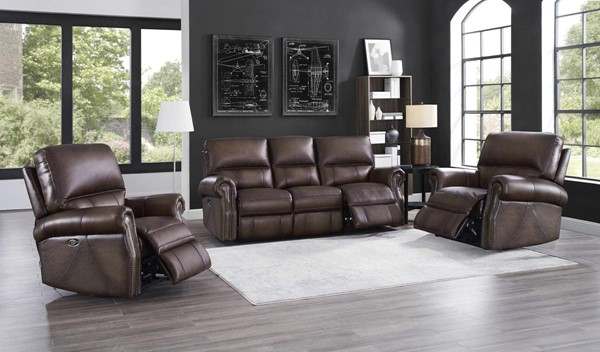 Hydeline Raymond Walnut 3pc Living Room Set with 2 Recliners AMX-Raymond-SCC