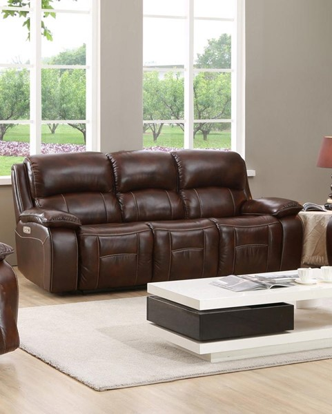 Hydeline Westminster II Brown Power Sofa with Drop Down Table AMX-9851SO2032