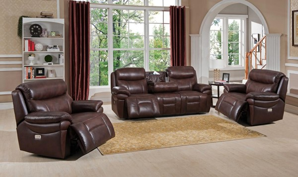Hydeline Summerlands II Chestnut Brown Power Reclining 3pc Living Room Set with 2 Recliners AMX-Summerlands-II-SCC